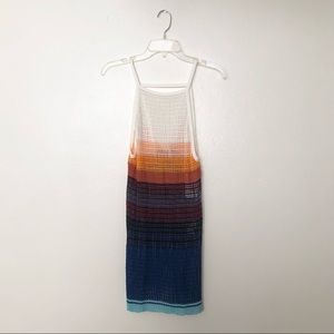 Free People Rainbow Crochet Tunic / Dress